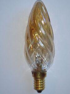 Ampoule-EDISON-Flamme-Torsadee-A-de-Luxe-SUDRON-LAMPE-CROZE-E14-25W-ambre-NEUVE