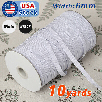1//4 inch Knit Knitted Elastic  Made in USA 20 yds Very Soft and Good Quality