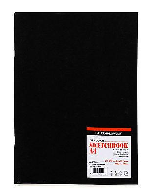 A4 DALER ROWNEY GRADUATE SKETCH BOOK 160GSM ARTIST CARTRIDGE PAPER MATT COVER
