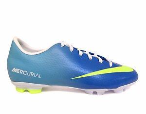 Ru administración Lo dudo  Nike Junior Big Kids MERCURIAL VICTORY IV FG Soccer Cleats Blue 553631-474  a3 | eBay
