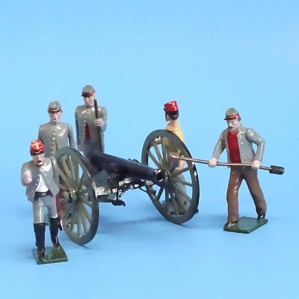 CORD -3033 - Confederate konstilleri Crew (5 Figures - Tradition) och Gun (Unknown