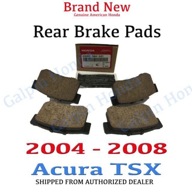 2004- 2008 Acura TSX Genuine Factory OEM Rear Brake Pads