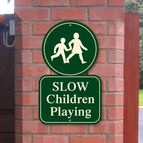 Road Safety Sign Kid s Playing Sign Classic Style Children Playing Safety Sign