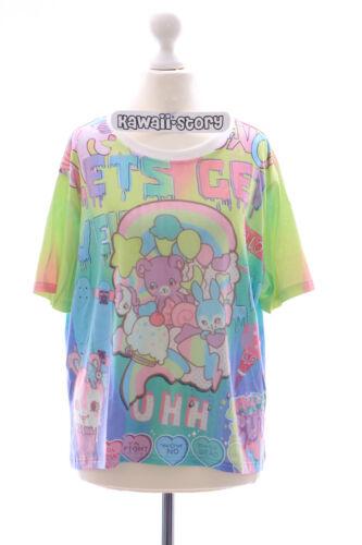 T-19 vert ours bear teddy Bunny Funky t-shirt lolita harajuku japon pastel goth