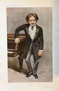 Original-Vanity-Fair-Print-1908-Impromptu-Mark-Hambourg-Music