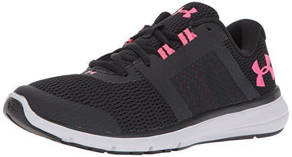 Under Armour Women's Fuse FST Size US 9.5 B(M) US Black/Glacier Gray/Penta Pink