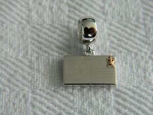 Clogau-Sterling-Silver-amp-9ct-Welsh-Gold-Postcard-Bead-Charm