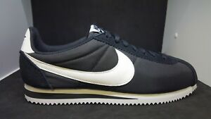 d0941147e50bf Nike Classic Cortez Nylon Black White Men Shoes Lifestyle Sneakers ...