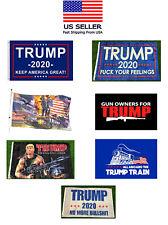 Trump 2020 Flag 3x5 Feet Keep America Great MAGA KAG Flags Banner Tank Rambo RED