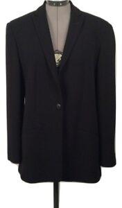 Jacket Giorgio Label Armani Silk Medium 8 Størrelse 10 Blazer Black Designer xPSzqT