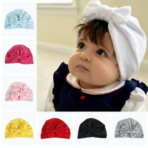 Girl-Baby-Bow-Beanie-Cap-Toddler-Infant-Cotton-Turban-India-Hat-Hair-Accessories