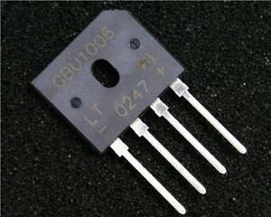 5-x-Diodes-Inc-GBU1006-Bridge-Rectifier-10A-600V-Single-Phase-AC-to-DC-4-Pin-GBU