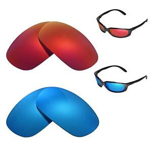 429a6a1c02 Walleva Fire Red + Ice Blue Polarized Lenses For Costa Del Mar Brine ...