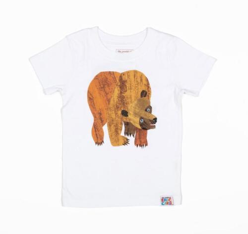 NWT Eric Carle Brown Bear White Short Sleeve Shirt 2T 3T 4T 5T