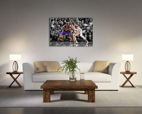 Dwyane Wade VS Kobe Bryant Painting Canvas Print Art Home Decor Wall