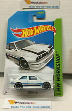 '92 BMW M3 #195 * Rare Kmart Only WHITE * Hot Wheels 2014 * B17