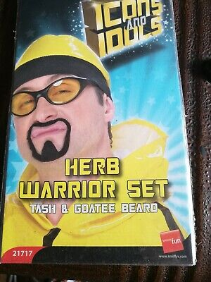 Herb Warrior Tash /& Goatee Beard Set Costume Accessory Kit Adult Halloween