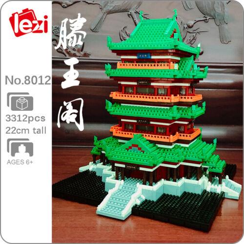 Lezi World Architecture China Tengwang Pavilion Mini Diamond Blocks Building Toy