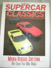 Supercar Classics Jul 1988 Lamborghini Miura vs Ferrari Daytona