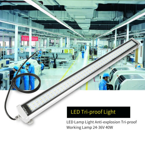 CNC Machine LED Lamp Light Waterproof Tri-proof Working Lamp 24-36V 40W US