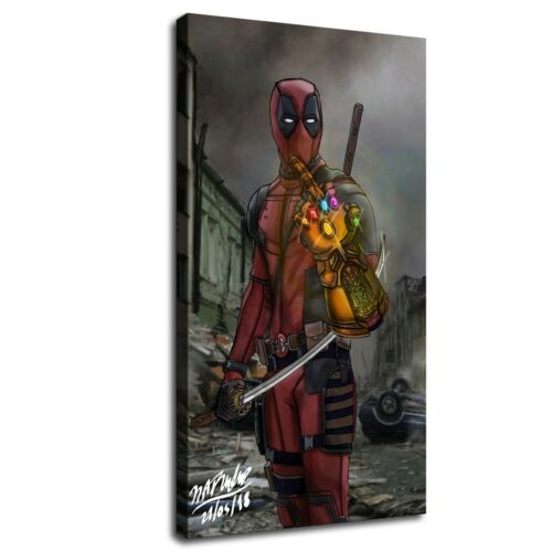 deadpool Infinity Gauntlet HD Canvas Print Painting Home decor Wall art Picture