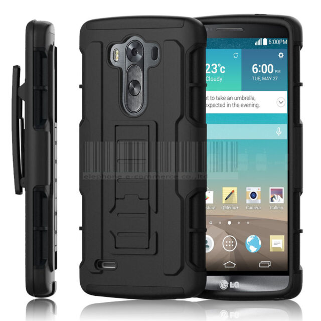 Shockproof Rubber Hybrid Impact Rugged Holster Hard Skin Case Cover For LG G3