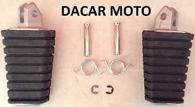 Qii lu 1 paio Poggiapiedi per moto da 1,25 poggiapiedi pilota in alluminio con anello di installazione