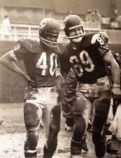 MIKE DITKA & GALE SAYERS 8X10 PHOTO CHICAGO BEARS PICTURE NFL FOOTBALL