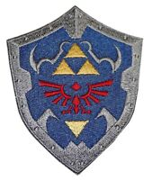 The Legend Of Zelda Crest Shield 2.75  Tall Embroidered Costume Patch