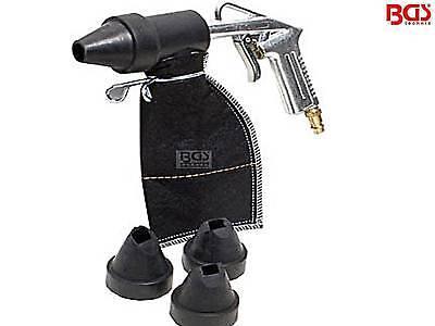 Druckluft Sandstrahler Pistole Sandstrahlpistole mit Strahlgutsack BGS 3243