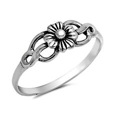 .925 Sterling Silver Ring size 4 Celtic Rose Midi Knuckle Kids Ladies New pp02