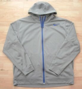 NIKE-SILVER-GREY-HOODED-SPORTS-TRACKSUIT-JACKET-TOP-XL-ADULT