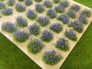 Small-Bluebells-Patches-Model-Scenery-Grass-Tufts-Blue-Scale-Railway-N-Gauge