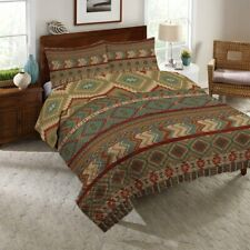 Laural Home Country Mood Sage Reversible Quilt Set