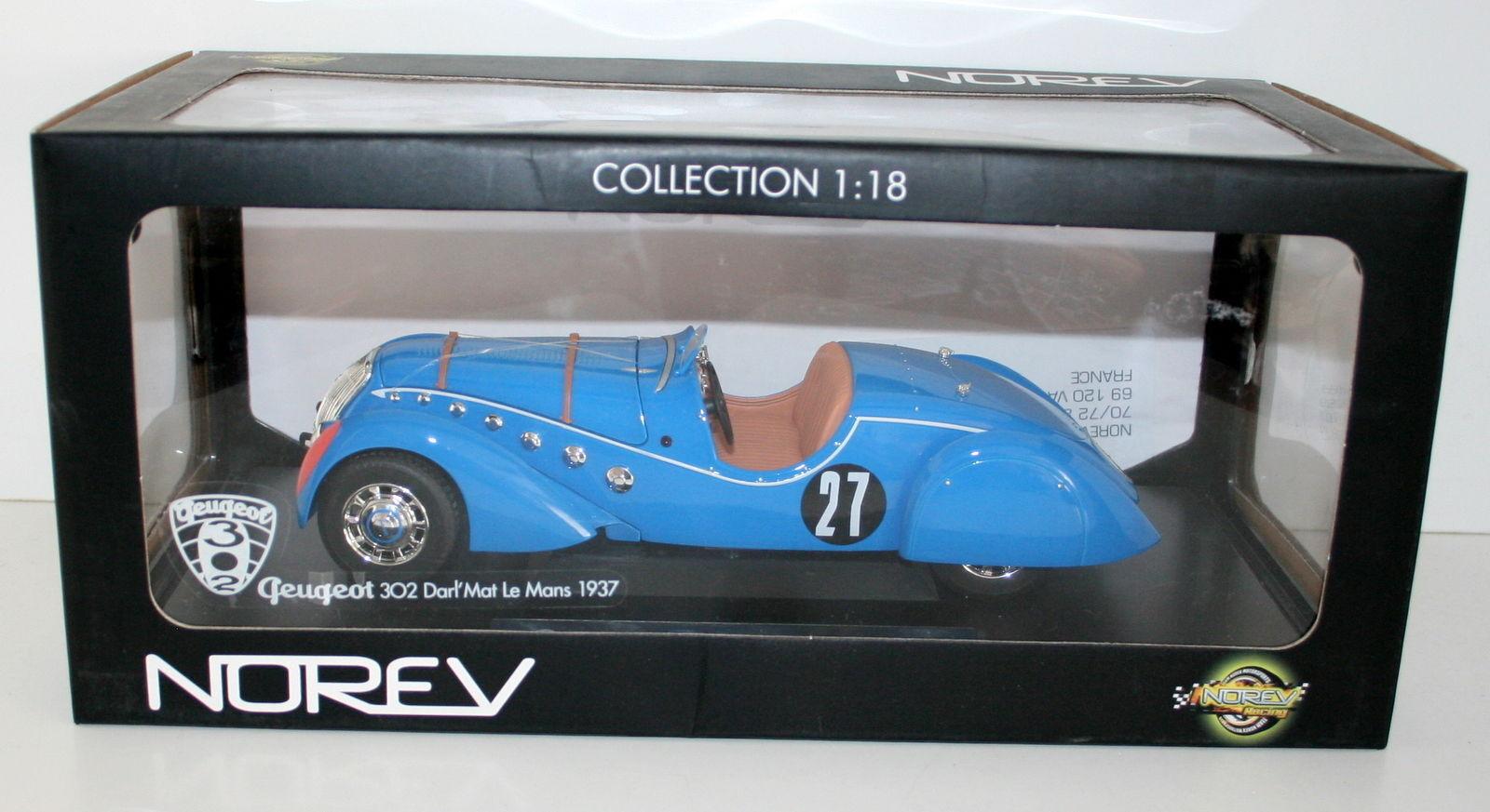 Norev 1 18 184702 Peugot 302 australiana 'mat roadster LM 1937
