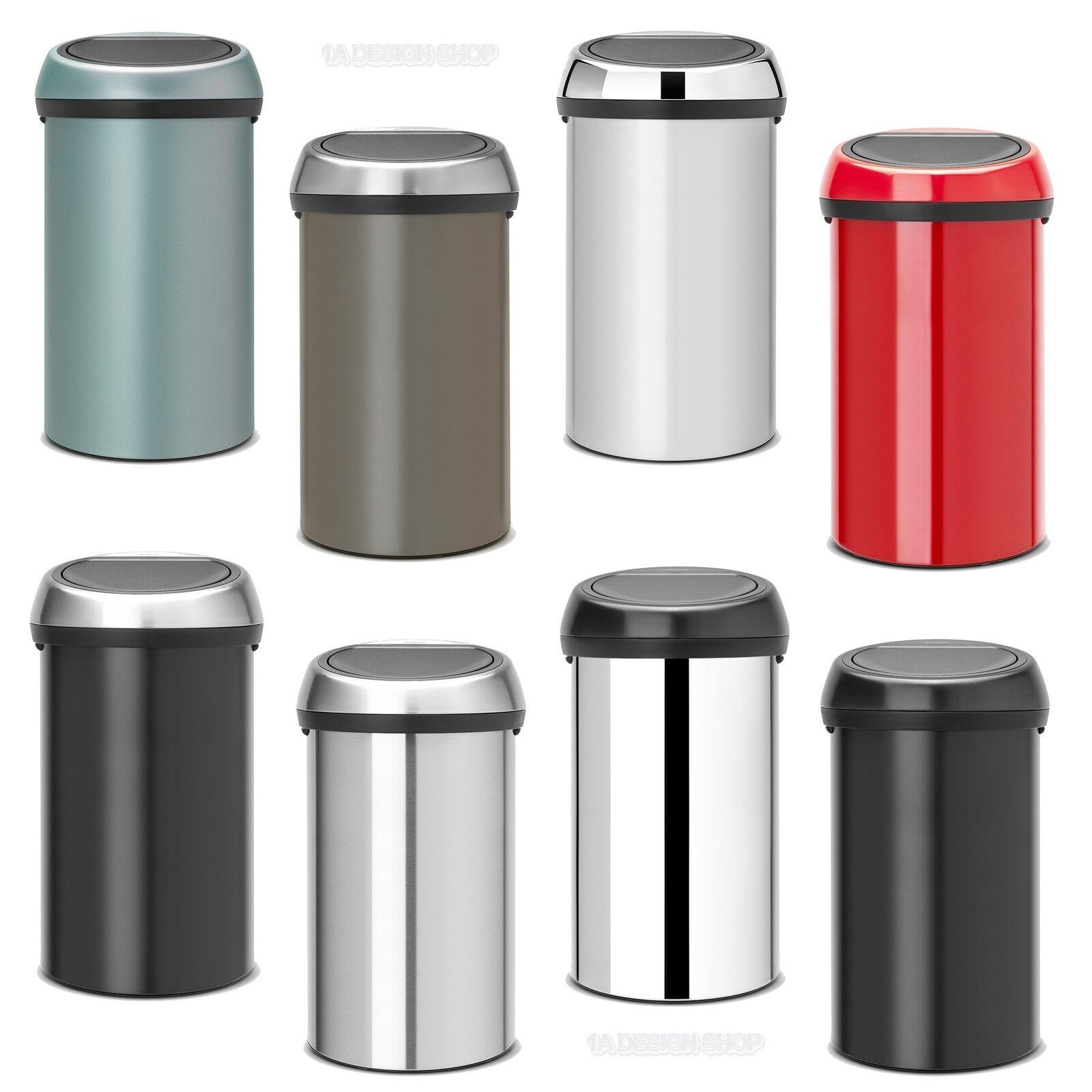 Details zu Brabantia XXL Mülleimer Touch Bin 60 Liter Abfalleimer mit dem genialen Deckel