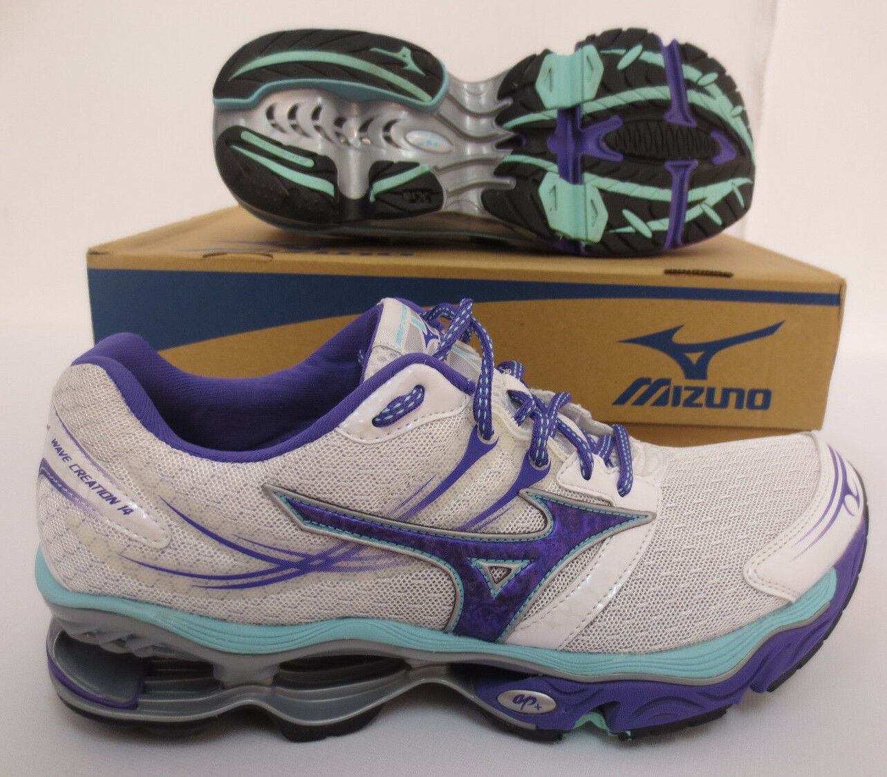 MIZUNO WAVE CREATION 14 Donna RUNNING WORKOUT JOGGING TRAINING GYM SCARPE NEW