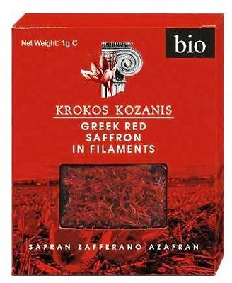 Krokos Kozanis - Greek Red Saffron in Sttaples (Bio)