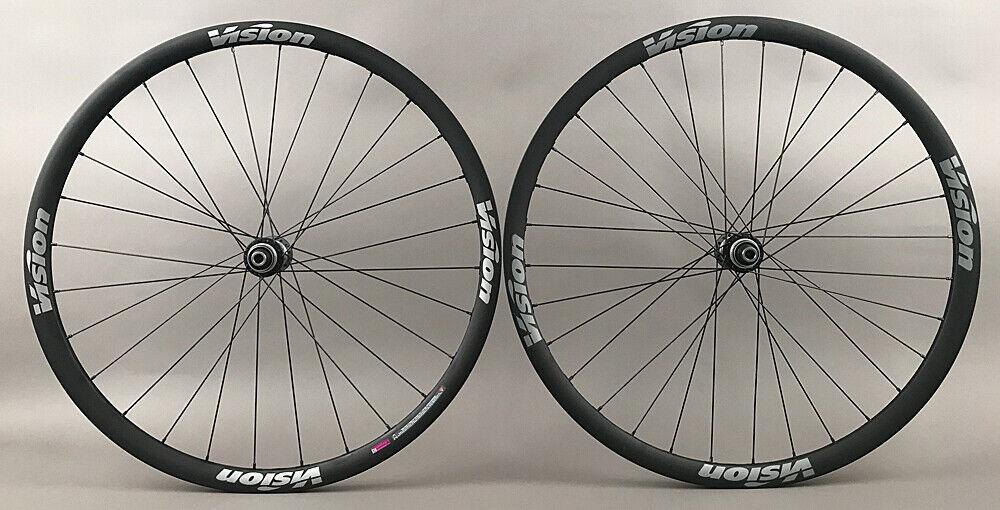 Image 1 - Vision-Trimax-Gravel-CX-Bike-Wheelset-Shimano-Ultegra-Hubs-12mm-Thru-Disc-Brake