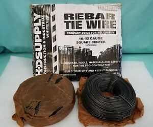 2 Rolls of Tie Wire 16 Gage Black, 3.5 lb roll compact coils for belts reels NEW