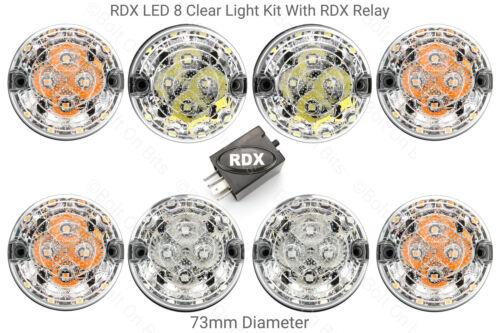 Rdx land rover defender 8 clear light kit avec relais