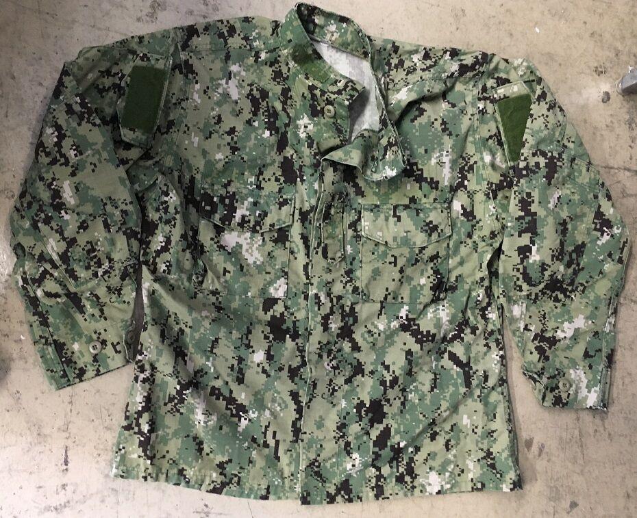 US NAVY USN aor2 seals Army Woodland Digital pattern SHIRT Giacca LARGE LONG