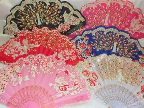 Joblot of 36 pcs Peacock Design Spanish Folding Hand Fan NEW Wholesale Lot 9