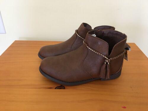 NWT Oshkosh Tan Boots Booties kid Girls 1,2,3