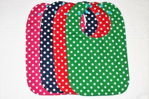 New Lot of 4 Pieces Different Colors Of Handmade Toddler/'s Waterproof Bibs