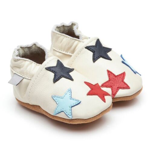 Soft Leather Baby Toddler Shoes Little Stars Cream 6-12 Months