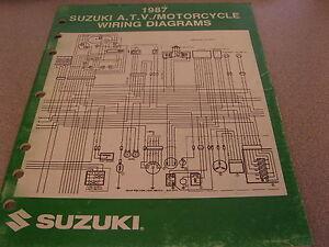 Suzuki ATV Motorcycle Wiring Diagrams Manual 1987 99923 ...