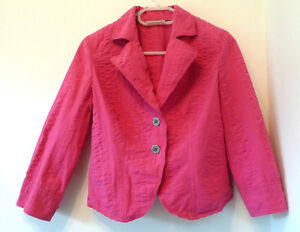 Jacket Size Fuchsia Dkny Jeans S With Textured Fabric AExSq4Y