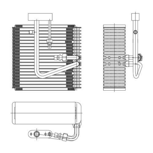 A//C Evaporator Core Front TYC 97149