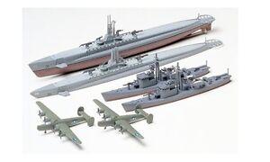 Tamiya-31903-1-700-Scale-Model-Kit-US-Submarine-Gato-Class-amp-Japanese-Chaser-No-13